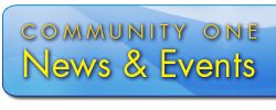 link to learn about community one's news, events, scholarships, and merger questions